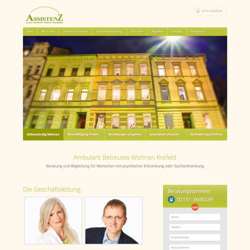 Webauftritt für Assistenz Krefeld