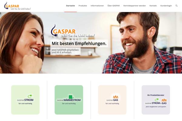 Web-Entwicklung und Web-Betreuung für GASPAR Energie