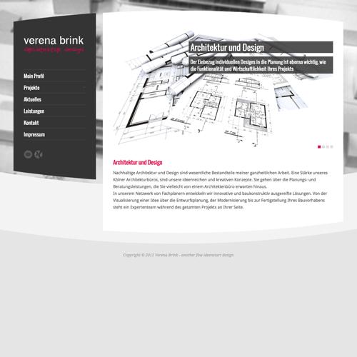 Web-Visitenkarte für Architektin Verena Brink