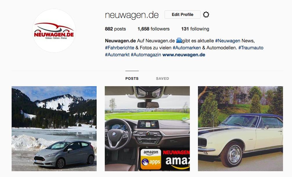 Neuwagen Instagram
