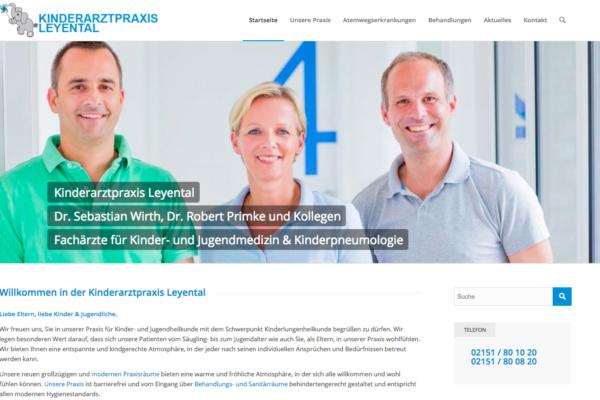 Webauftritt und Social Media für Kinderarzt Krefeld