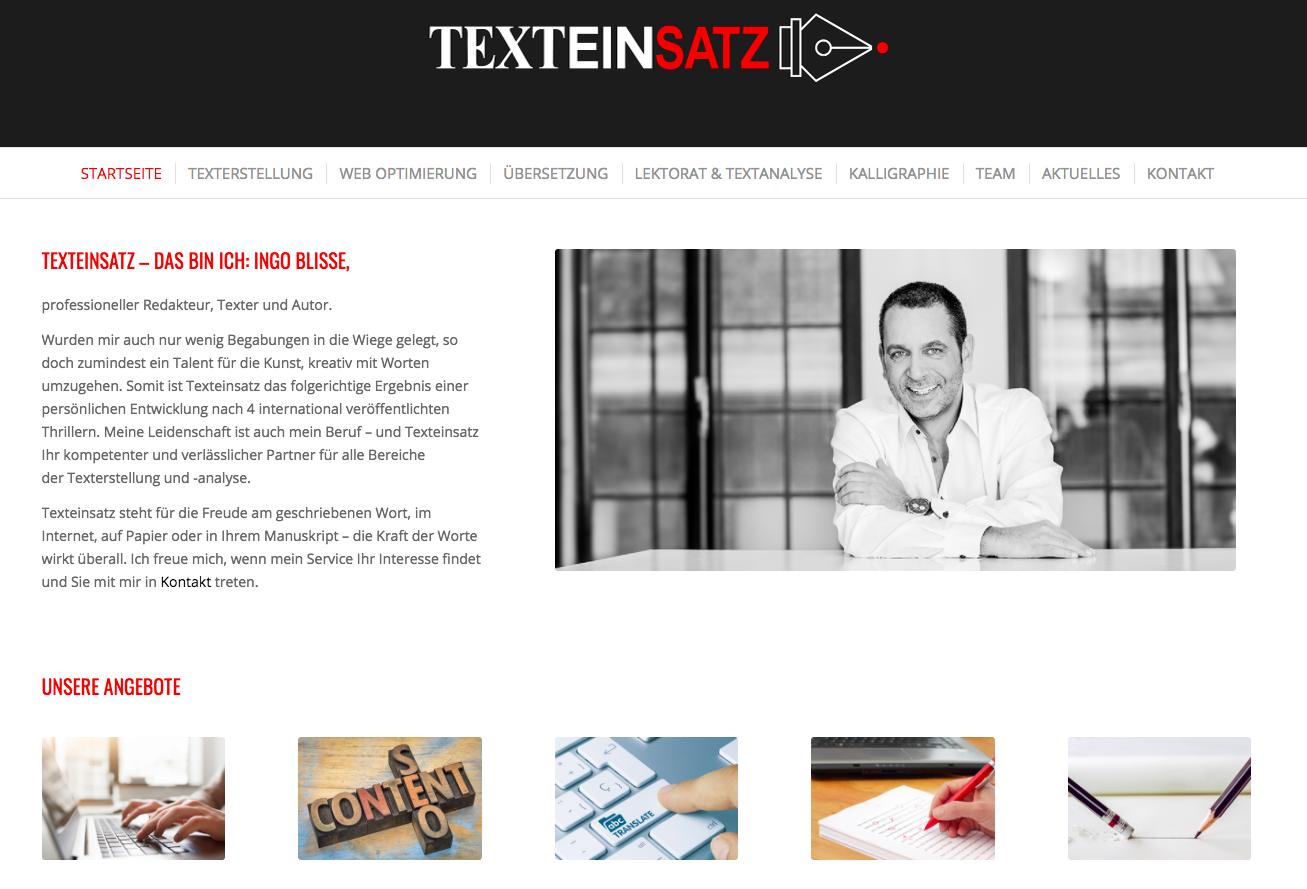 Webauftritt für Texteinsatz.de