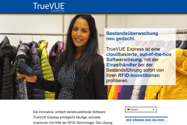 Microsite für Tyco Retail Solutions