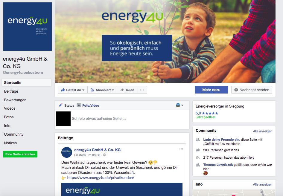 energy4u- Facebook