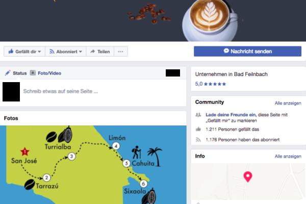 Facebook Betreuung für Barista World
