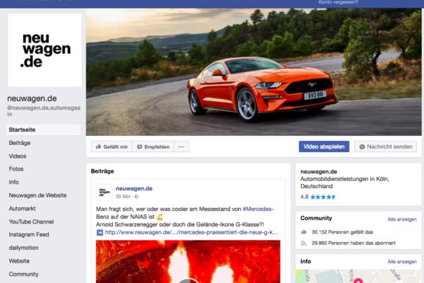 Social Media Betreuung für Neuwagen.de